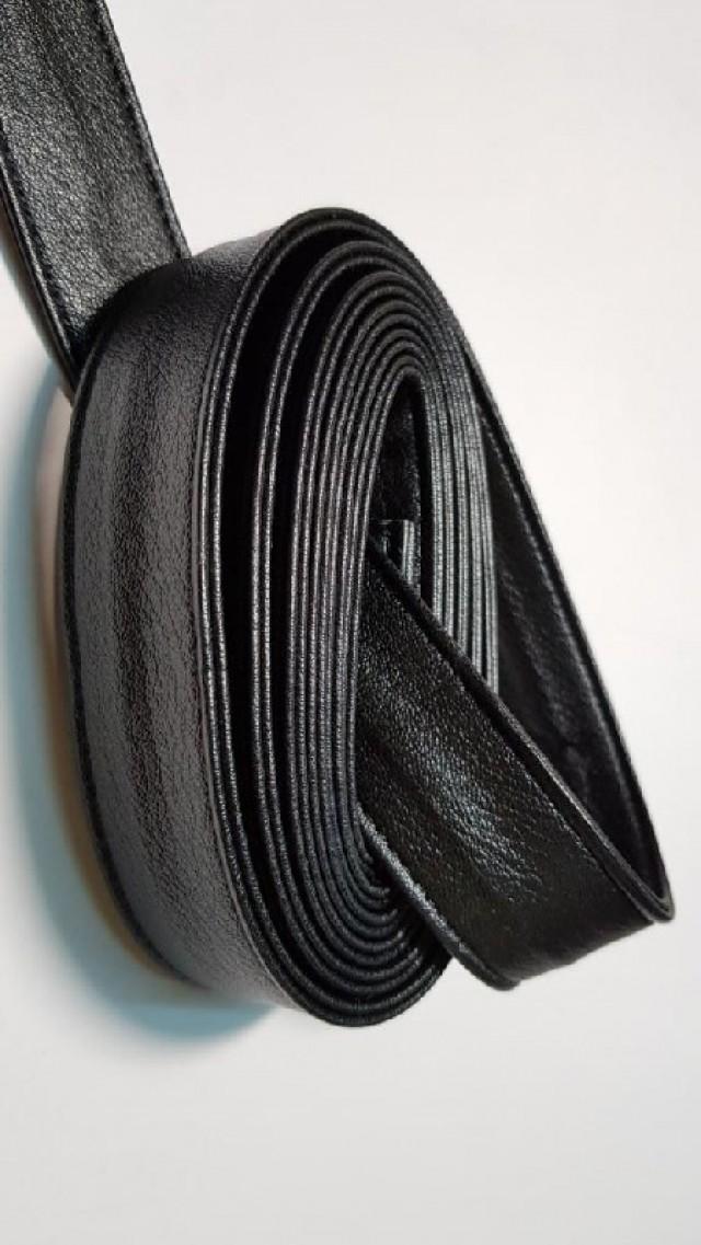Ручки сумочные ПЛОСКИЕ черный мат.