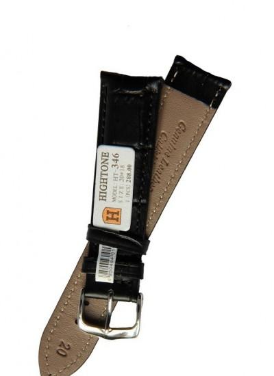Ремешки для часов HIGHTONE №346 (размер 20мм) Черн. Рептилий