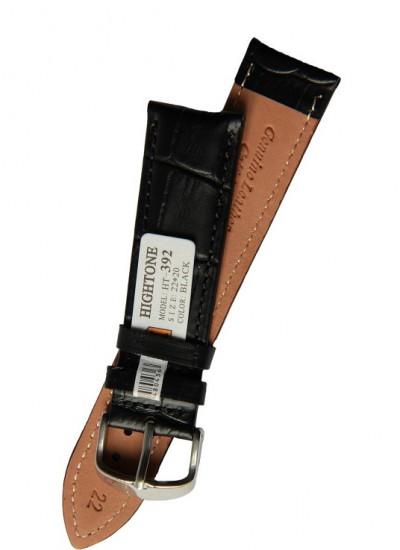 Ремешки для часов HIGHTONE №392 (размер 22мм) Черн. Рептилий