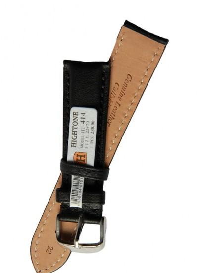 Ремешки для часов HIGHTONE №414 (размер 22мм) Черн.