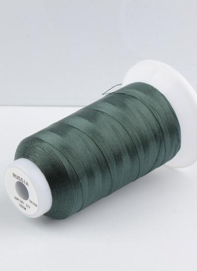 Нитки для шв.машин 50К, 65К-1000м 222 темно-зеленый