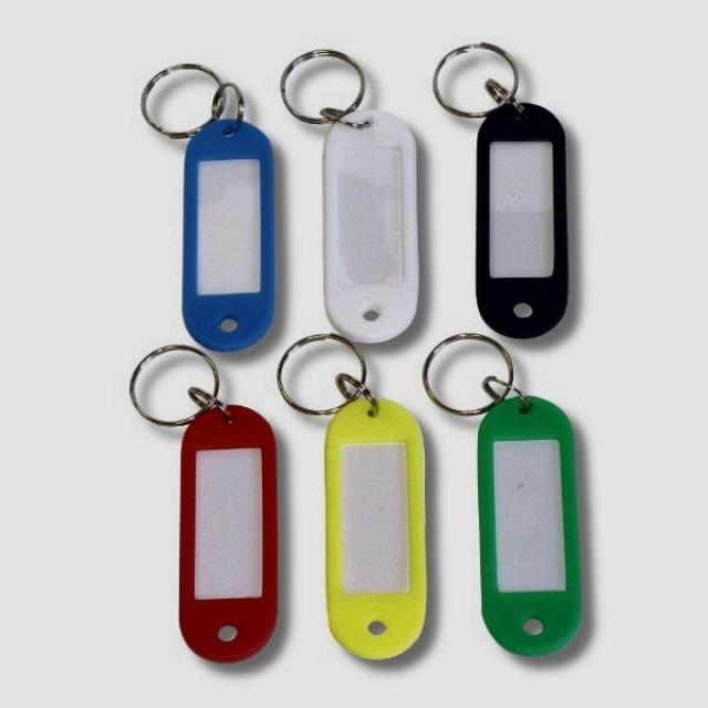 Пластиковые разноцветные бирки для ключей