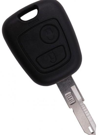 Корпус ключа с местом под чип для CITROEN, 2 кнопки, лезвие NE73