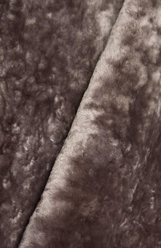 Мех натуральный (овчина) оттенок «сталь»