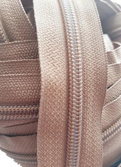 Молния рулонная, спираль Т-7, св.коричневый