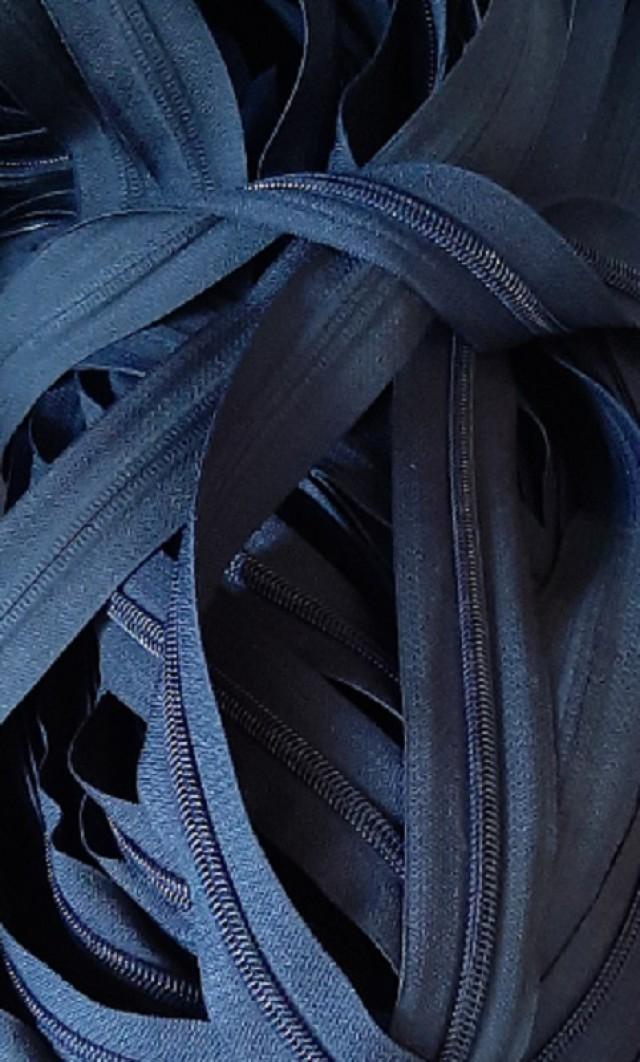Молния рулонная, спираль Т-7, т.синий