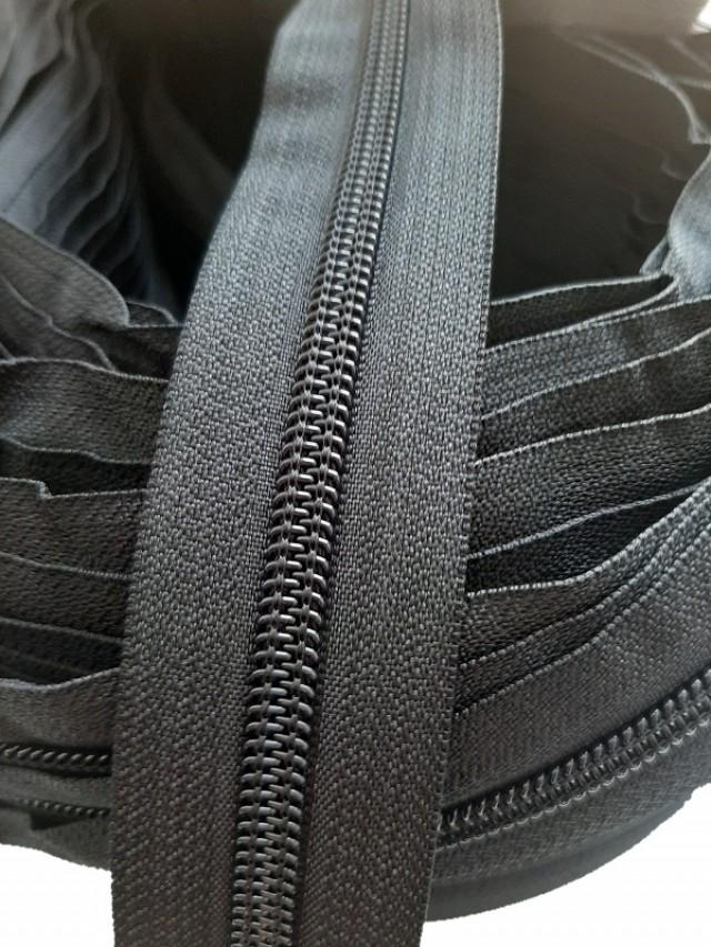 Молния рулонная, спираль Т-7, черный