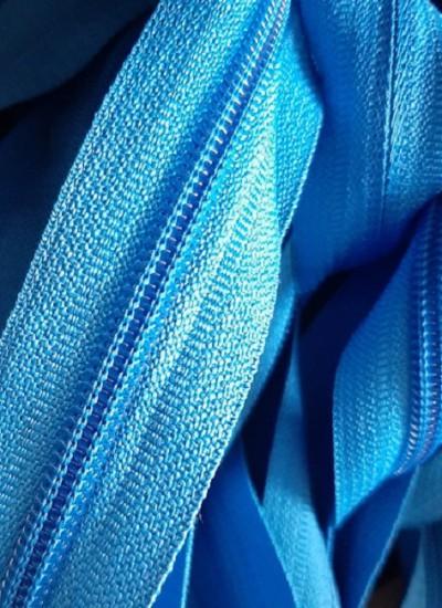 Молния рулонная, спираль Т-7, голубой