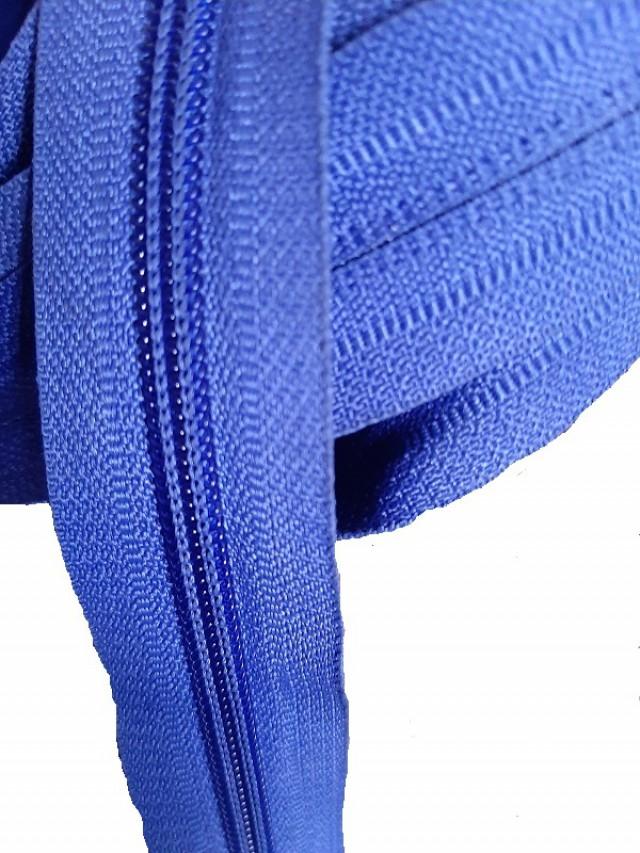 Молния рулонная, спираль Т-7, св.синий
