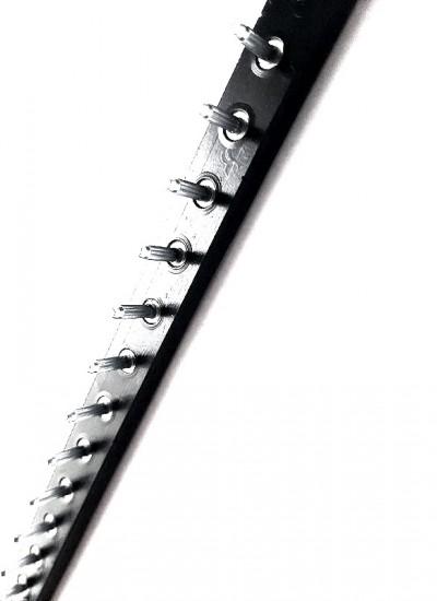 Полоса П/У со штырями толстая, Черный