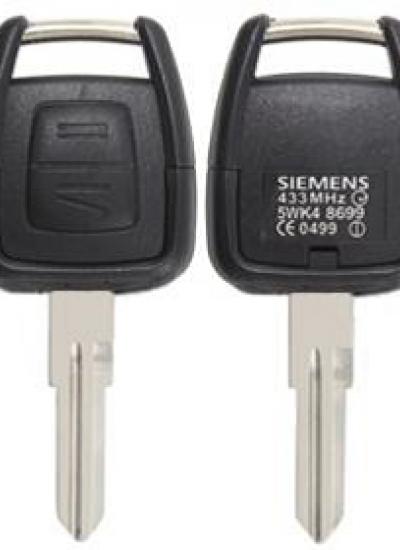 Opel 2 кнопки корпус ключа с левым лезвием KS-26
