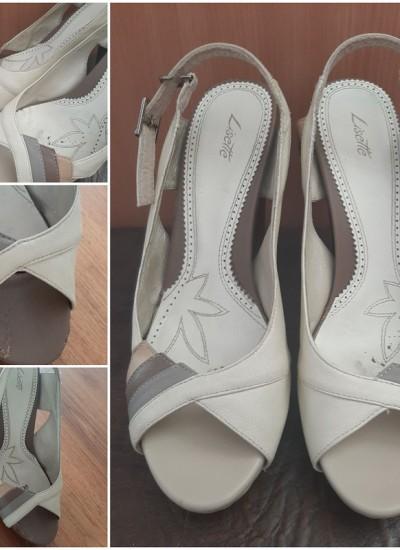 Перетяжка носочной части обуви кожей