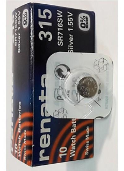 Батарейки фирмы RENATA 315