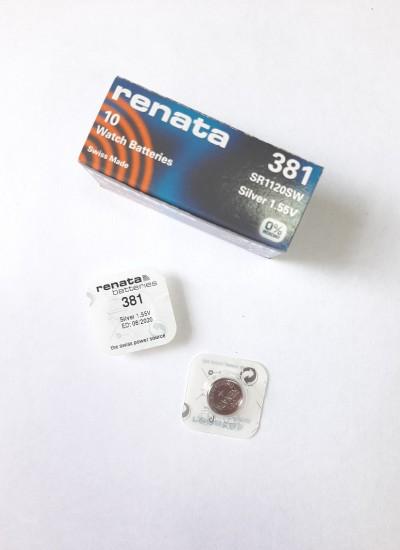 Батарейки фирмы RENATA 381
