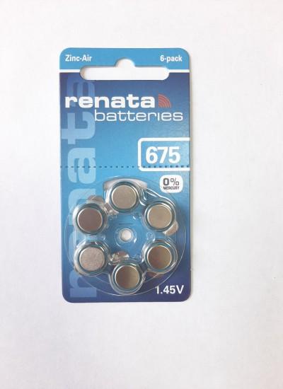 Батарейки фирмы RENATA ZA-675
