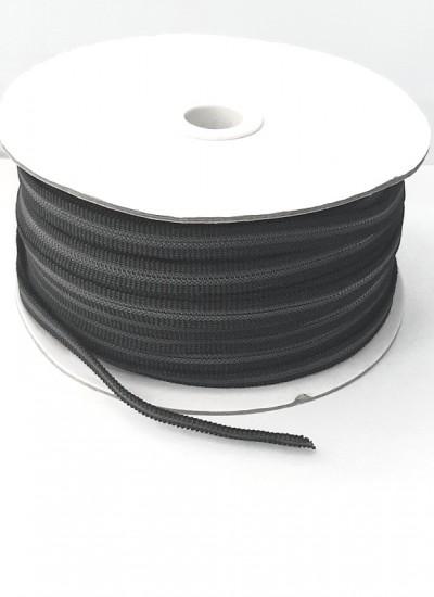 Резинка с просечкой 8мм черная