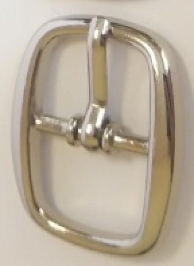 ПРЯЖКА ОБУВНАЯ 15mm (10428) никель